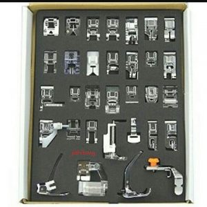 set tapak mesin jahit 32pcs sewing machine footer for brother gs2700