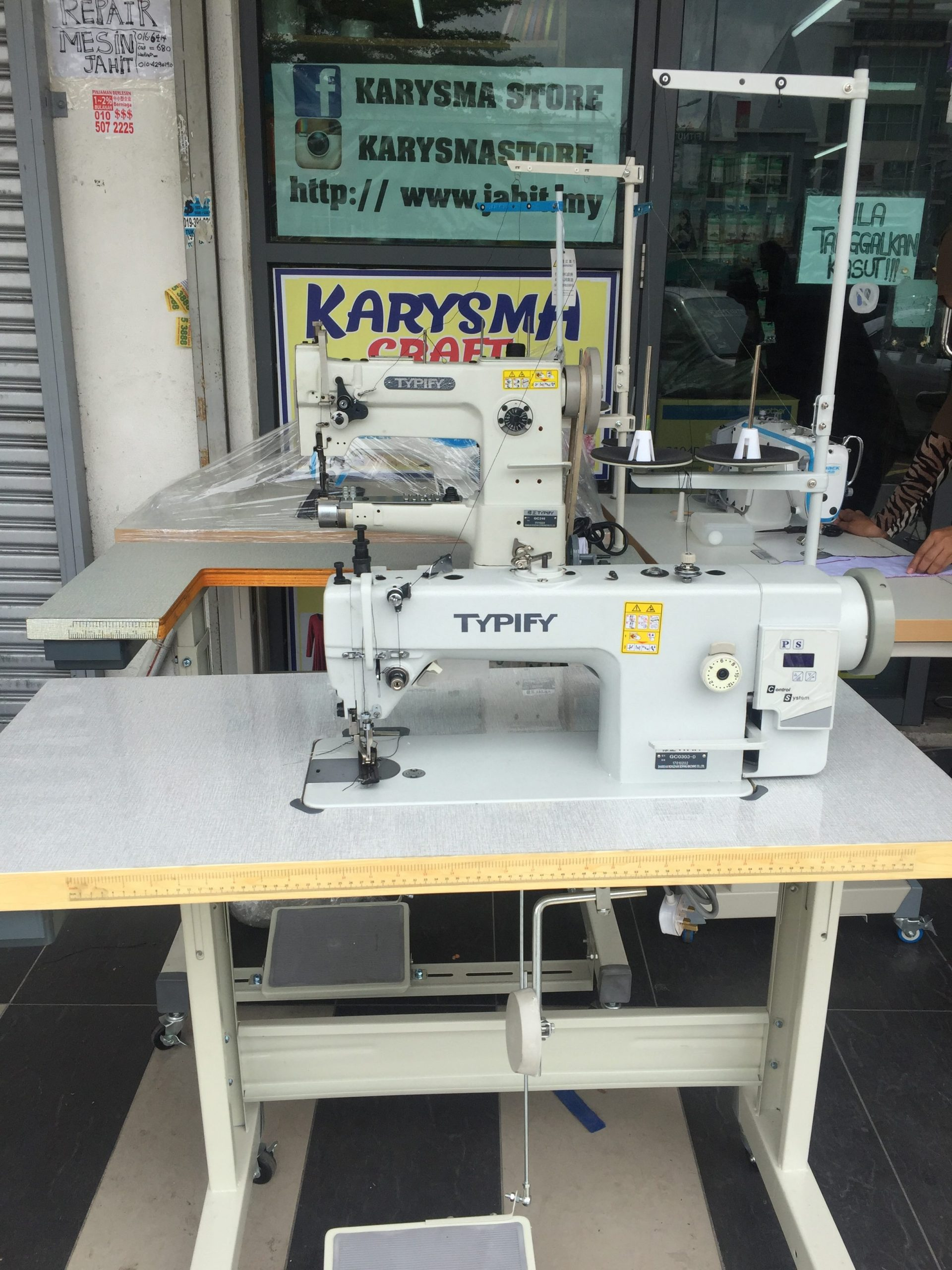 Mesin jahit kulit walking foot sewing machine compound feed
