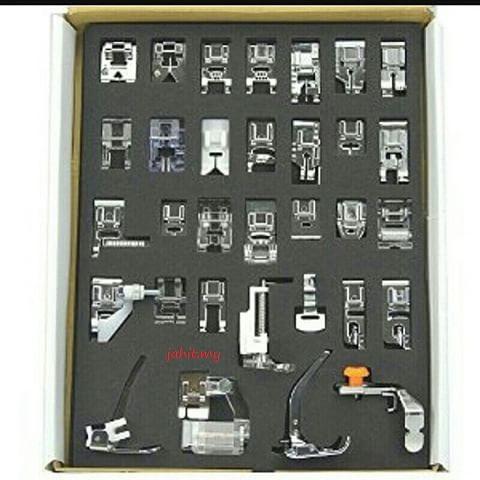 set tapak mesin jahit 32pcs sewing machine footer for brother gs2700