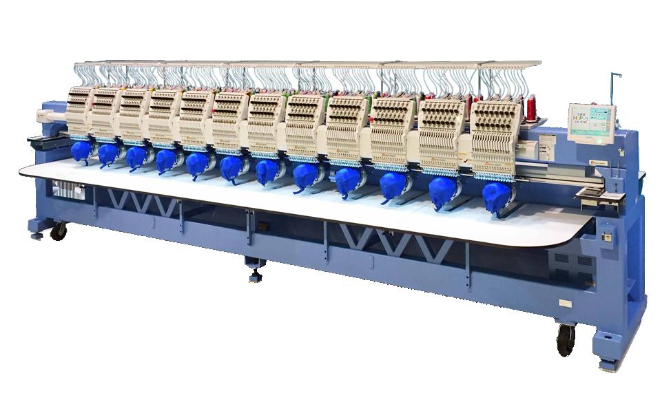 Mesin jahit sulaman berkomputer multi head