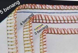 Jenis jenis jahit tepi OVERLOCK stitches 4 thread 5 thread 5 benang